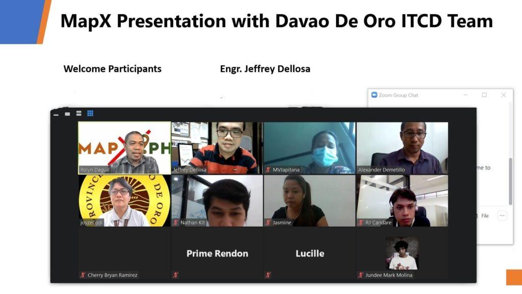 MapX presents to Davao De Oro